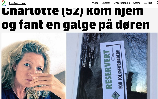 Right Wing Extremist Group Puts Stickers with Gallows on Doors in Norway