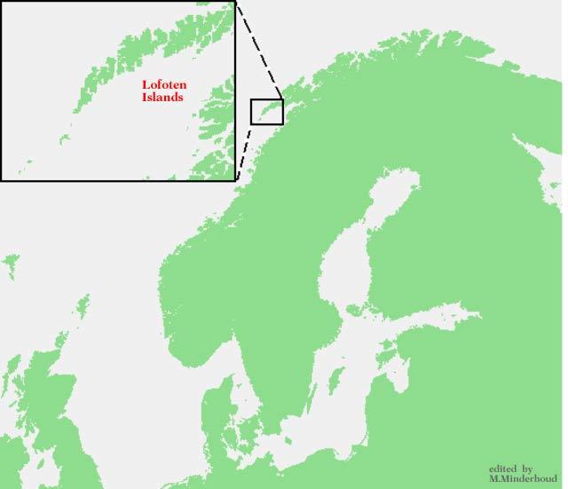 Lofoten map
